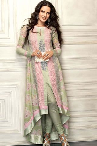 Eid Lawn Collection Gul Ahmed. oh thats how you wear this on...