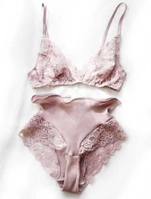 light pink blush lingerie set