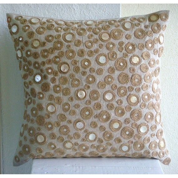 Jute Centric  Euro Sham Covers  26x26 Inches by TheHomeCentric