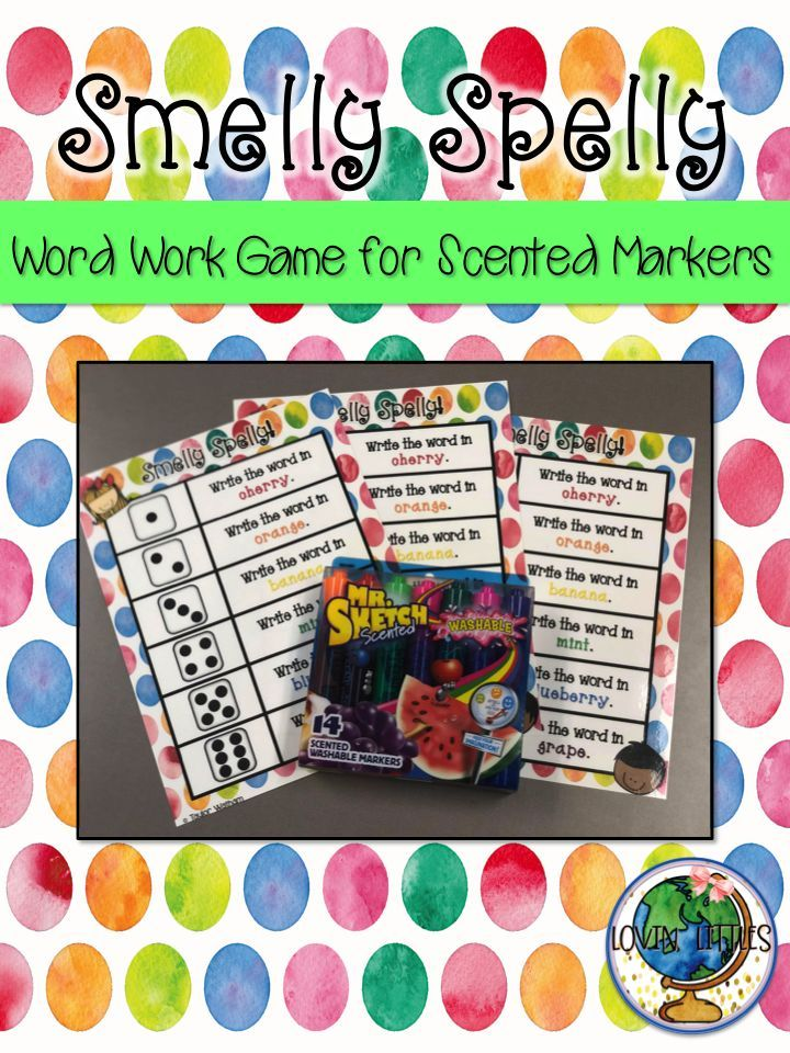 Fun word work game made for Mr. Sketch smelly markers