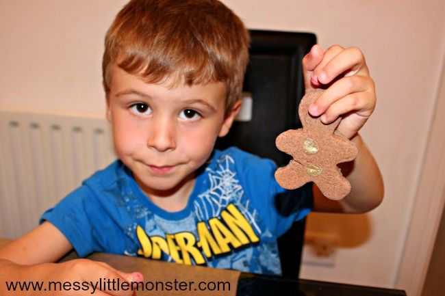 Cinnamon Salt Dough Ornament – Fingerprint Gingerbread Man Craft