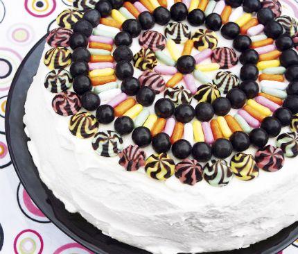 Salt Liquorice cake - recipe in Swedish