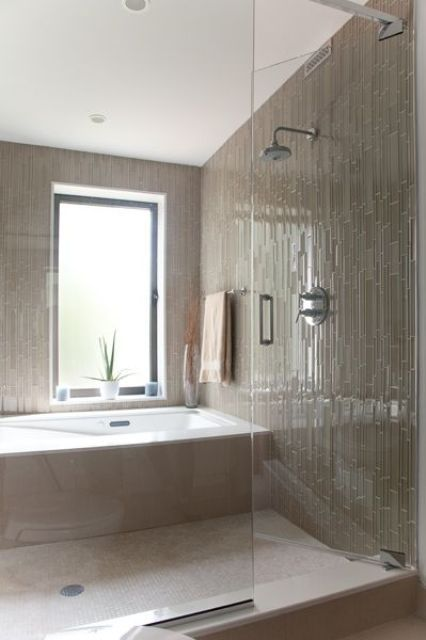 30 Calm And Beautiful Neutral Bathroom Designs