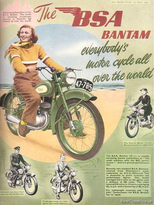 BSA Bantam ad, 1948.