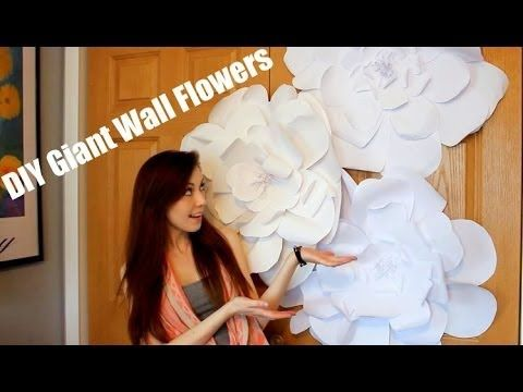 ▶ DIY Giant Wall Flower Decor | Bliss - YouTube. This technique is really simple, and she makes nice, big flowers.