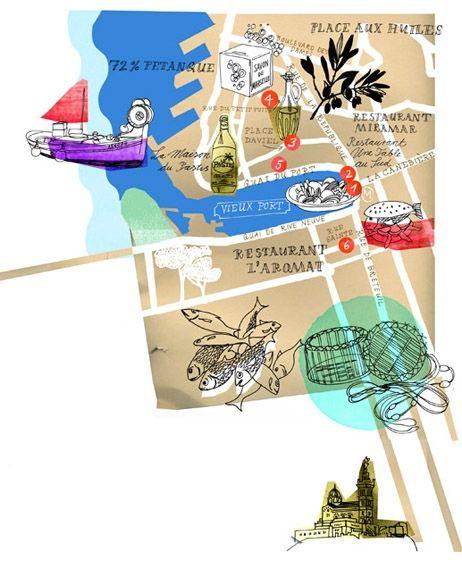 Julia Pfaller - Map of Marseilles