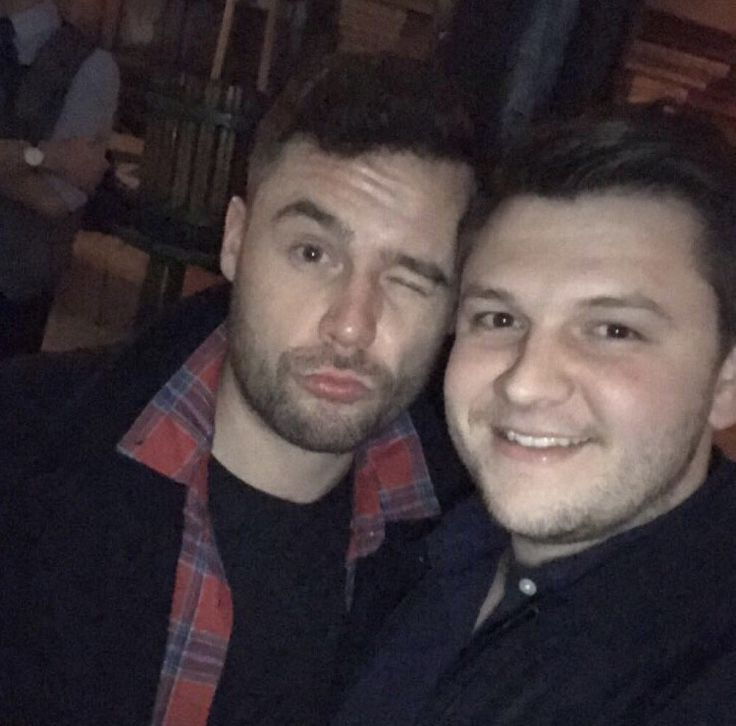 Danny Miller and Billy Quarmby celebrating Daniel Jillings' Birthday