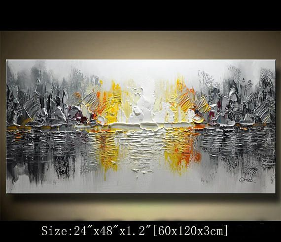 abstract art painting Modern Textured Painting Palette