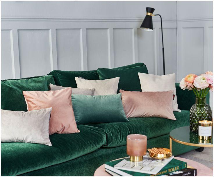 Kissenhullen Kissenbezuge In Allen Grossen Online Kaufen Samt Sofa Grunes Samtsofa Couch Grun