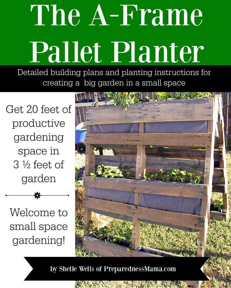 The A-Frame Pallet Planter eBook. Buy it today! | PreparednessMama