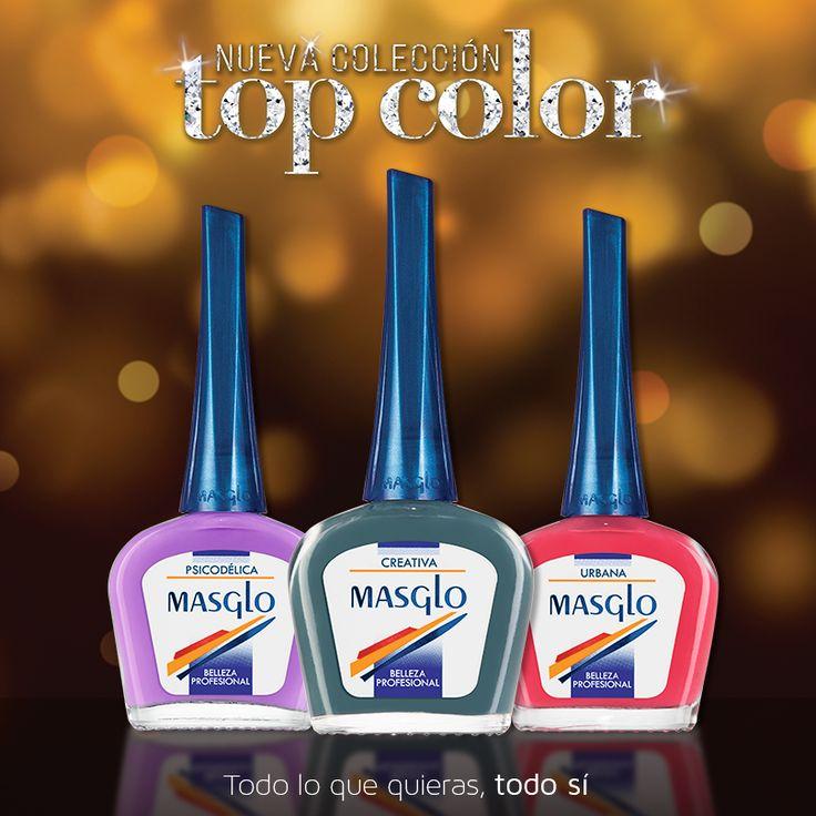 Colección Top Color #SoyMasglo #Masglo #MasgloLOVERS #ColeccionTopColor #NailPolish