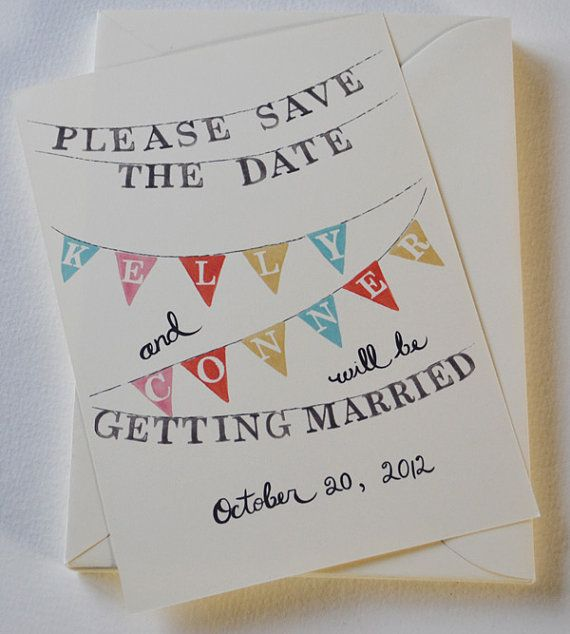 Custom Wedding Save the Date Set of 50 Cards by LOFTLIFEPRESS, $190.00