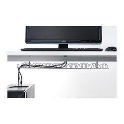 IKEA - SIGNUM, Regleta para cables horizontal, Agrupa todos los cables eléctricos y del ordenador. Facilita mantener el orden en tu área de trabajo.