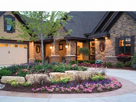 Front Elevation Landscaping : Best images about boulder landscape on pinterest