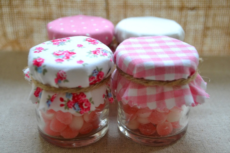 Mini Jam Jar favours for the kids... Adults to be filled with chilli jam/Raspberry Jam!