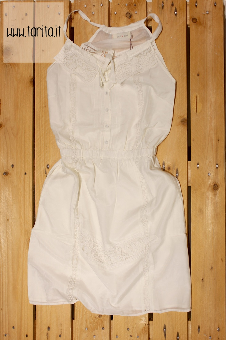 Tarita S/S 2013. Indi & Cold, silk and cotton white sundress.