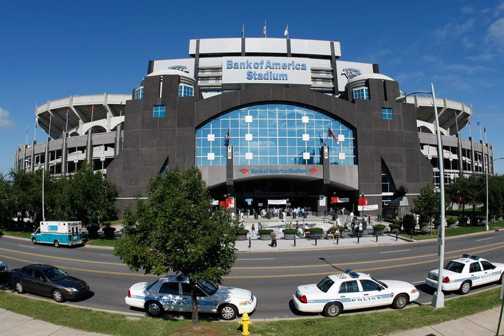Opened in the summer of 1996, Bank of America Stadium is located in the uptown district of Charlotte and was specifically designed for football by HOK Sports Facilities Group of Kansas City, MO. Description from pantherscamp.com. I searched for this on bing.com/images
