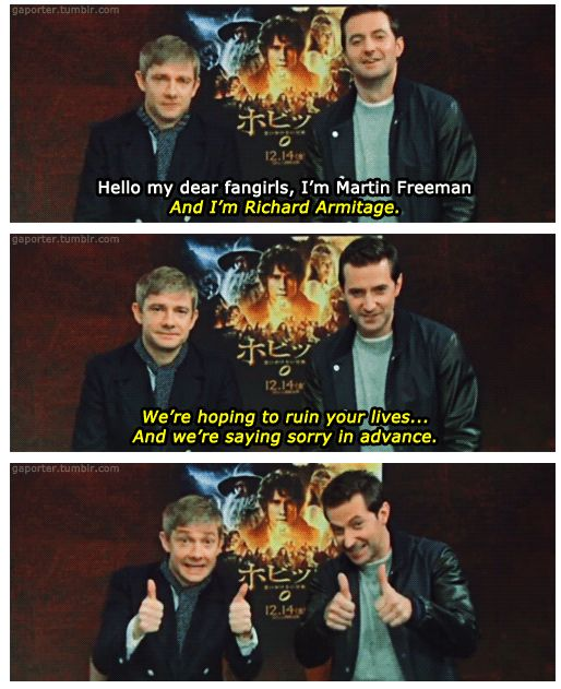 Well Martin, you killed my social life much before the Hobbit came out, but I still love you so it's okay I guess