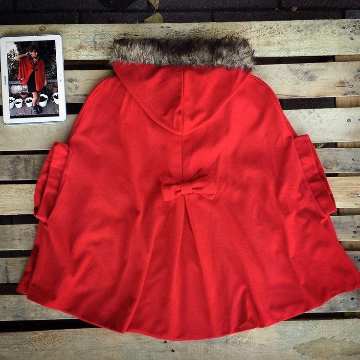 #Mantella #cappuccetto #rosso #oversize taglia unica 68 euro!