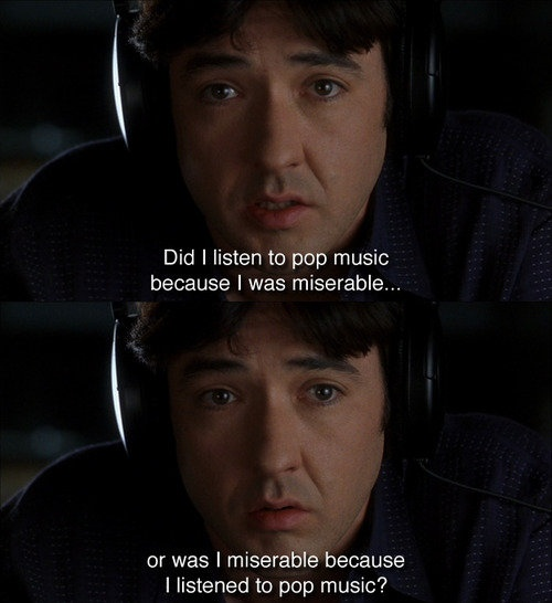 High Fidelity... <3 loved the book and the movie