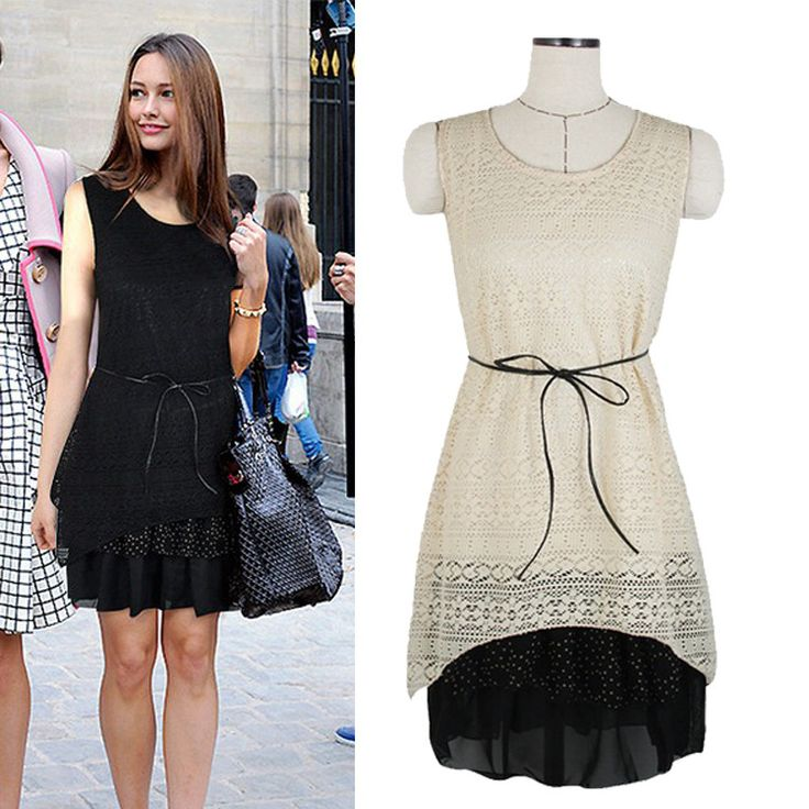 2013 summer women new fashion wild European and American hollow lace round neck sleeveless dress straight 584-in Dresses from Apparel  Accessories on Aliexpress.com $72.99