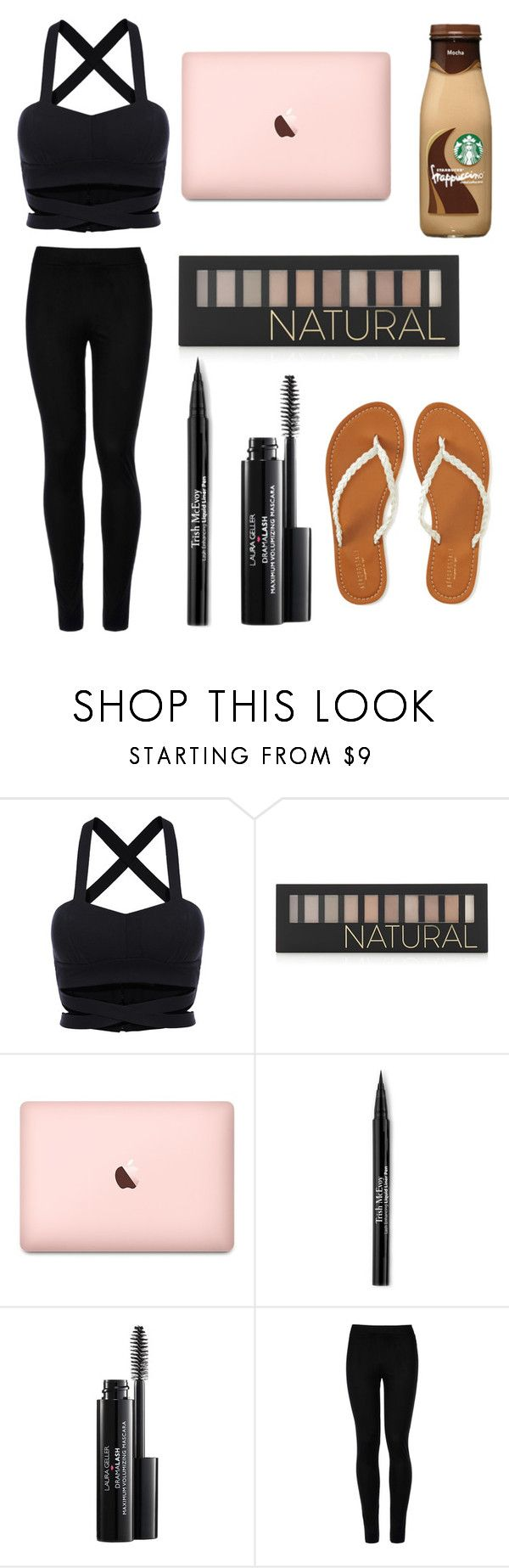 """""""tomorrow's my last day of school"""" by aliclm ❤ liked on Polyvore featuring Forever 21, Trish McEvoy, Laura Geller, Wolford and Aéropostale"""