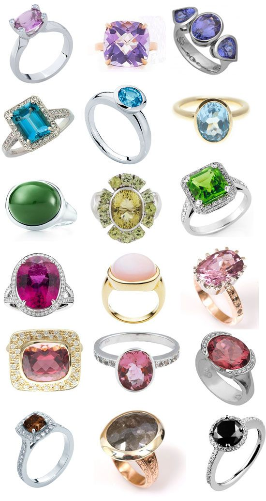 coloured engagement rings - Wedding Rings Without Diamonds