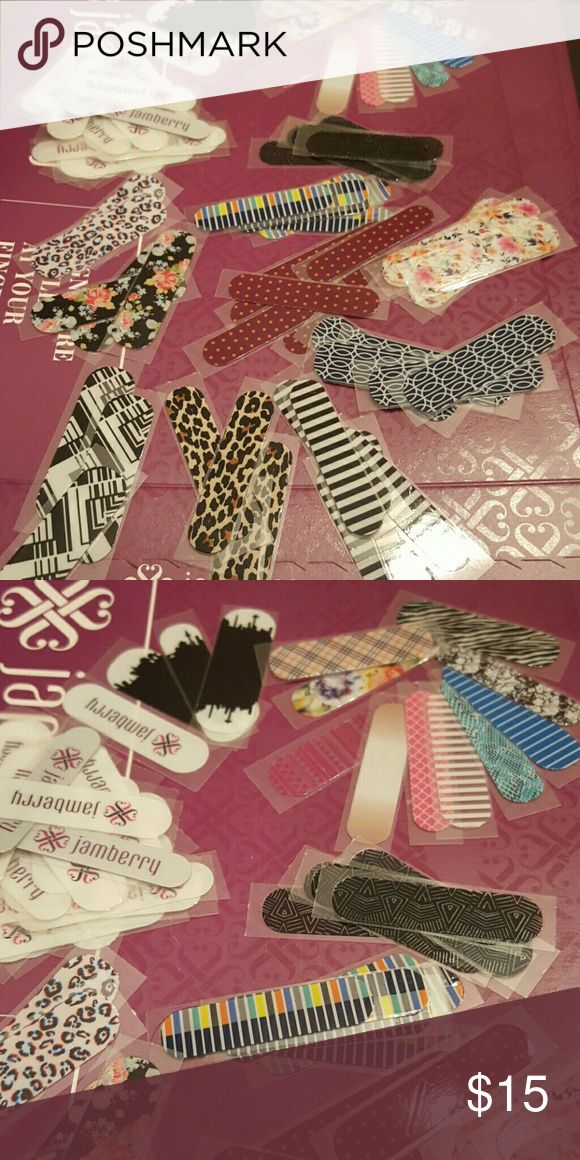 Jamberry sample wraps Various prints and sizes  *I am NOT a Jamberry consultant*  Thanks for looking! ?? Other