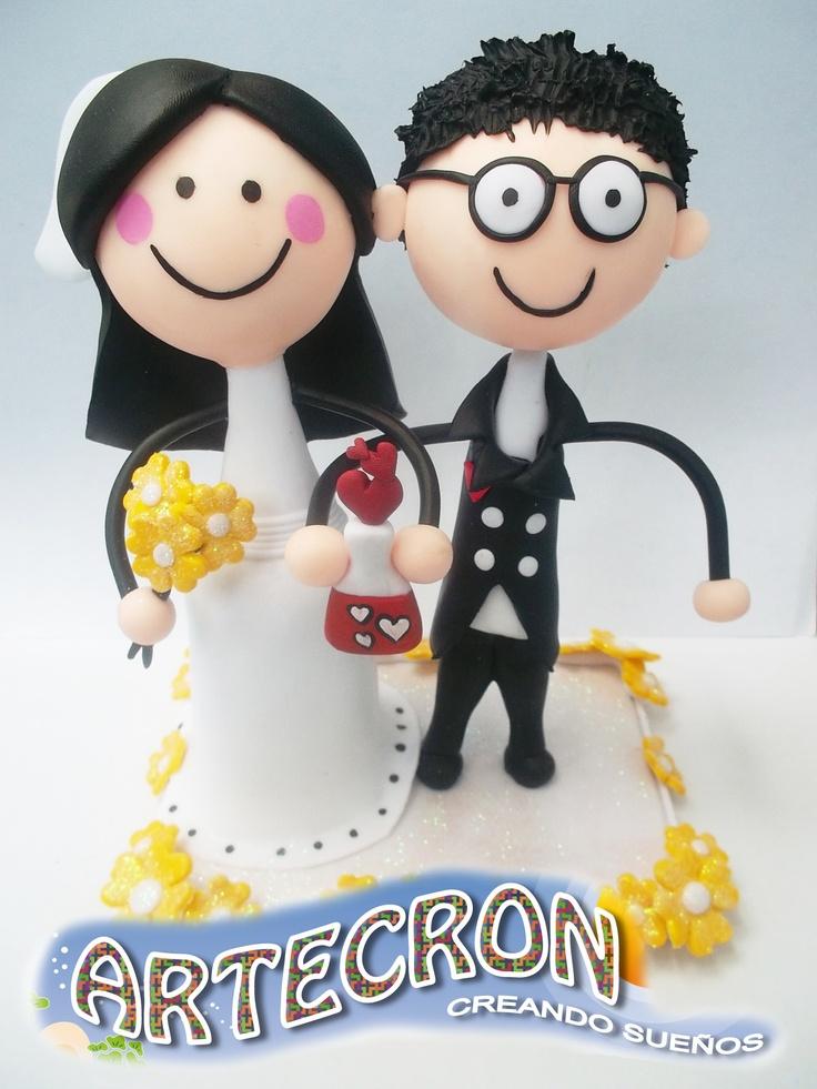 lindos y personalizados wedding cake topper