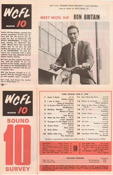 wcfl radio.  ( Biggest competitor in the 60's was WLS - listened to both)
