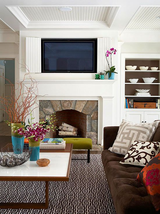 Placing A TV Over A Fireplace. Room IdeasDecor ...
