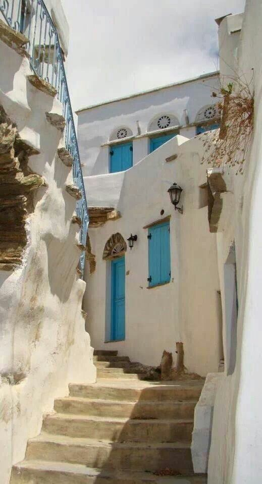 Beautiful alley in Tinos, Cyclades