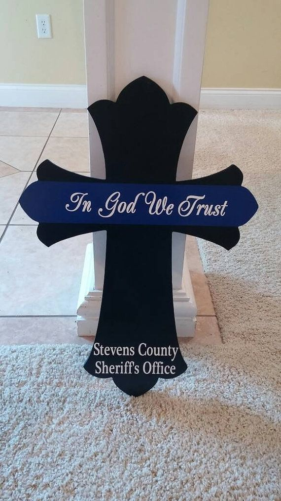 Check out this item in my Etsy shop https://www.etsy.com/listing/270795589/thin-blue-line-cross-24-x-18-wood-cross