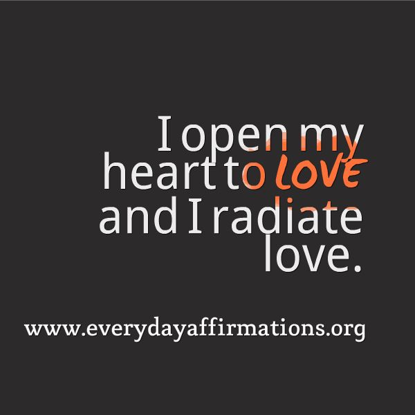 Daily Affirmations 2014, Affirmations for Love