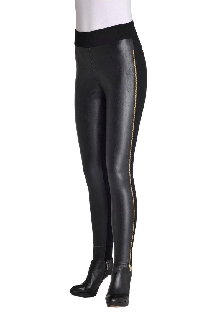 Side Zip Compression Leggings by Nygard Slims