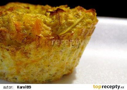 Zeleninové muffiny s ovesnými vločkami recept - TopRecepty.cz