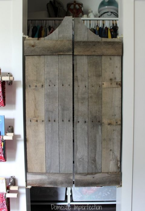 DIY swinging doors for a kids cowboy room