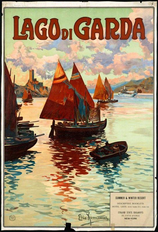 Lago di Garda travel poster