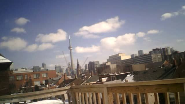 A sunny day over the CN Tower timelapse