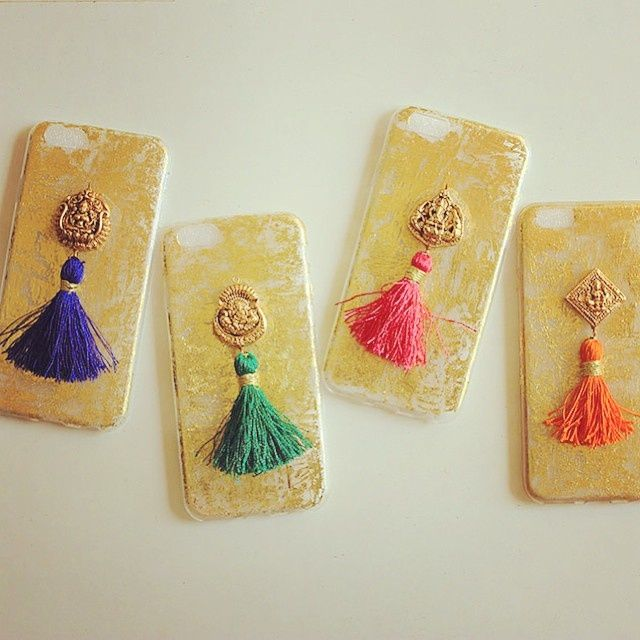 Indian Wedding Gifts - Customised Pom-Pom I-phone Covers for your Mehendi…