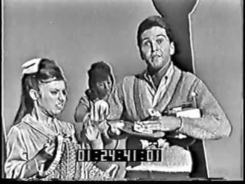 For Valerie - Paul Petersen - She Can't Find Her Keys on TVs Shindig '64 - the song was first a hit in 1962 but he went with it for a couple yrs on teen dance and variety shows (and had a couple other songs in there too - I had the old Teenage Triangle LP with Paul, Shelley and James Darin that had all their hits). Looks like the gal next to him is Deborah Walley but it must be a look-a-like - she already was a bonafided movie star by this vintage.