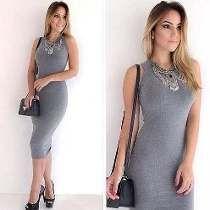 Vestido Longo Midi Mescla Lapis Moda Blogueiras Instagram