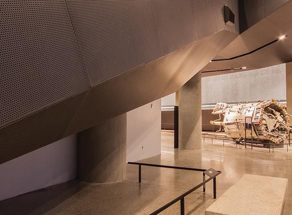 Gordon - Aluma Vault 300 Wall System - Perforated Panel - 9/11 Museum