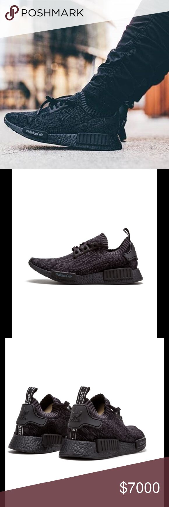 Adidas NMD R1 - Pitch Black 100% authentic, NWT, Men's sizes 6.5,