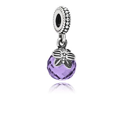 PANDORA Morning butterfly, purple & clear cz: Representing My Mom being Free as a Butterfly; her Birthstone is Feb which is purple/amyethist.