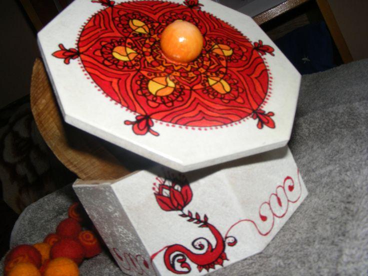 jewlelry box, candy box, indian motif, mandala, handpainted storage box, handpainted jewelry box, home decoration by EmeseArtizan on Etsy
