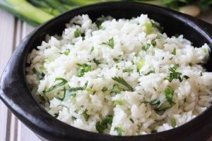 Smart Balance Recipe - Cilantro-Scallion Lime Rice