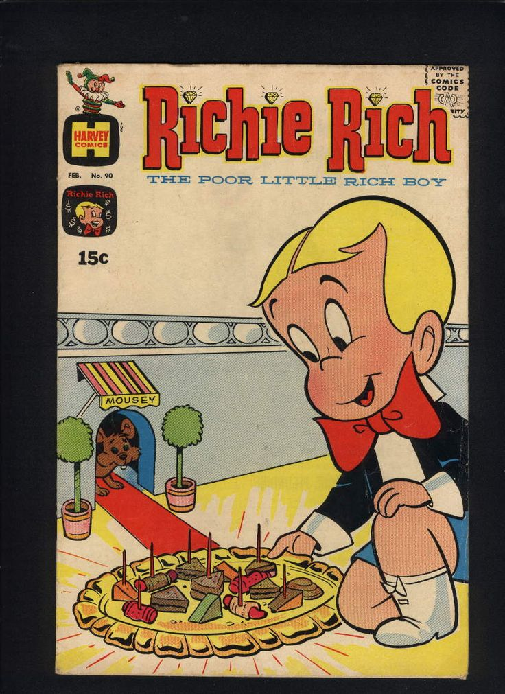 Richie Rich #90 (Poor Little Rich Boy, Harvey Comics, 1969) VG