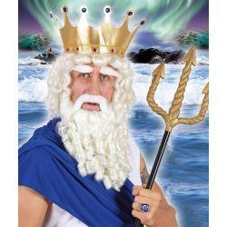 Peluca con Barba Blanca Zeus  En Mercadisfraces, podrás comprar tus disfraces de Navidad baratos y originales para tus fiestas más navideñas o representaciones escolares.