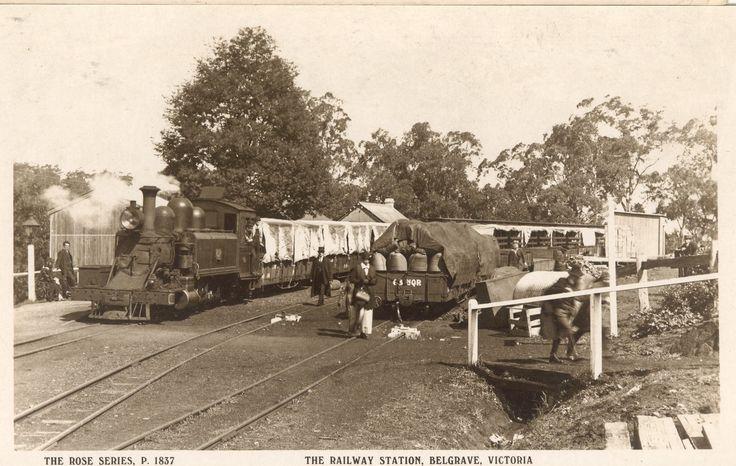 Belgrave Railway Station in the narrow-gauge Puffing Billy era
